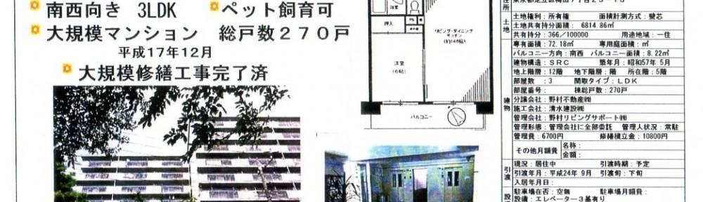 梅島駅徒歩6分 3LDK大規模マンション