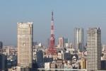 タワーマンションから見る東京タワー