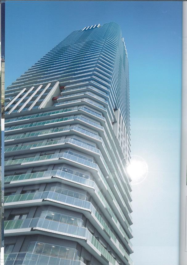 勝どきタワーマンション53階建ての30階、正面に東京タワーと富士山が見えるお部屋!!